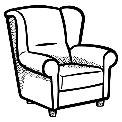 Armchair Black And White Clipart Armchair Lineart