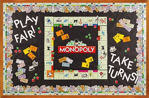 themes of monopoly board games pin by delcin wells on classroom decor pinterest