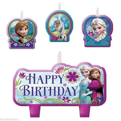 happy birthday frozen design disney s frozen birthday cake candle set party supplies ebay
