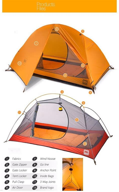 Tenda Range Ultraligh Tent 1 5kg naturehike ultralight tent 1 person outdoor cing hiking waterproof tents single carpas