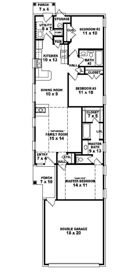 duplex floor plans for narrow lots 653501 warm and open house plan for a narrow lot