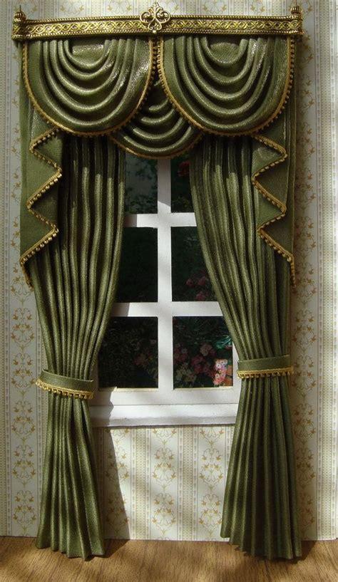 dollhouse curtains miniature 1 12 dollhouse curtains on order by