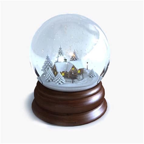 3d model of snow globe animations