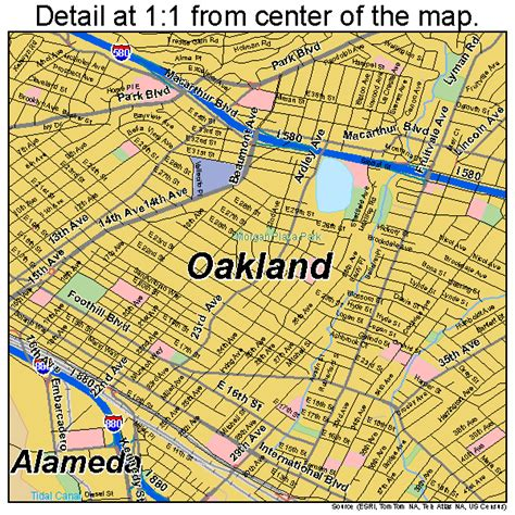 oakland map oakland ca map image search results