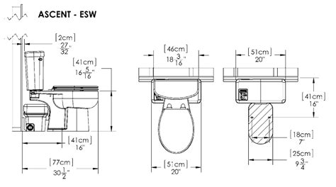 Bathroom Fixture Dimensions Macerating Toilets Upflush Sewage Systems For Basements
