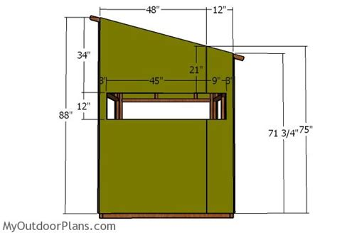 Shooting House Plans by 5x5 Shooting House Roof Plans Myoutdoorplans Free