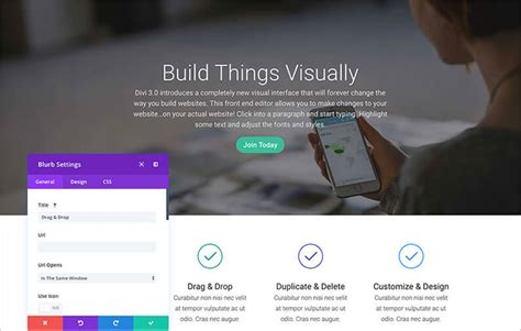 divi theme blog homepage divi 3 0 visual builder build your pages on the front
