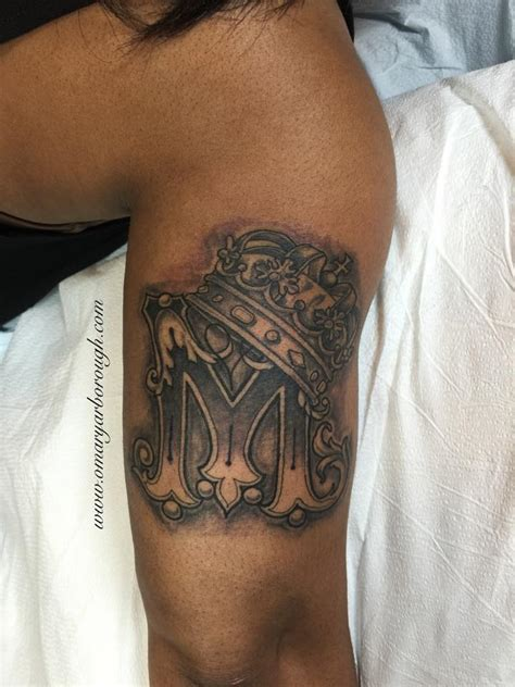 m and m tattoo letter m with crown www pixshark images