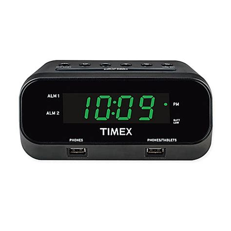 bedside l with usb charging port timex 174 rediset dual alarm clock with dual usb charging