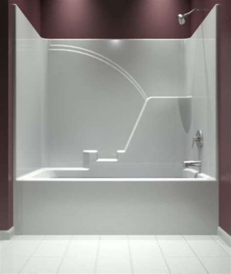 bathtub one piece one piece tub and shower surround 150 flickr photo mirolin