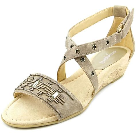 brown sandal wedges easy spirit easy spirit malvina brown wedge sandal