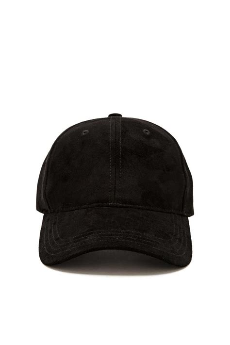 Faux Suede Baseball Cap forever 21 faux suede baseball cap in black lyst