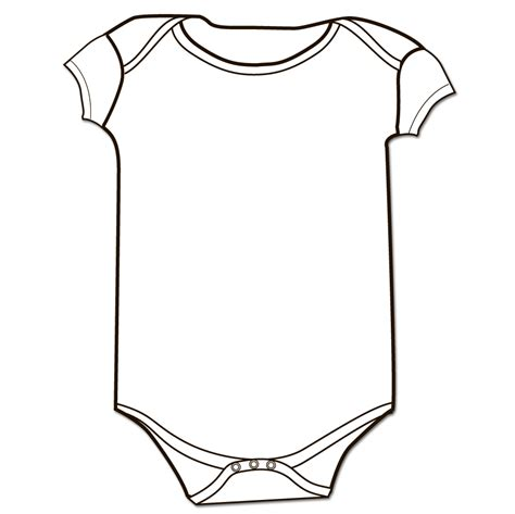 baby onesie template baby onesie outline sketch coloring page