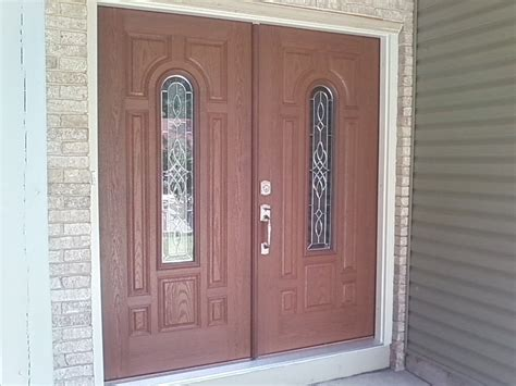 foot fiberglass exterior doors with modern style