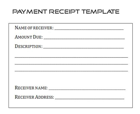 template for a receipt of payment sle payment receipt form template by builder