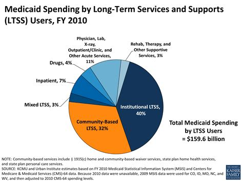 medicaid and long term services and supports a primer the henry j medicaid spending by long term services and supports ltss