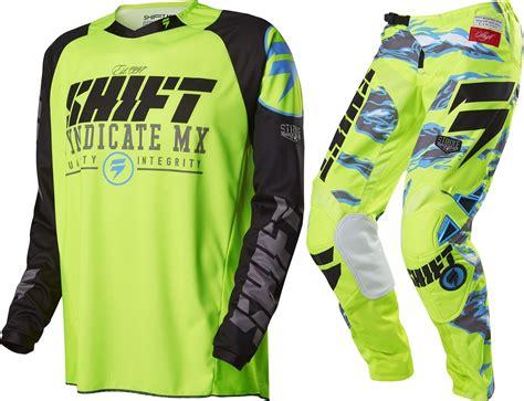 camo motocross jersey shift new mx 2016 strike fluro yellow camo black motocross