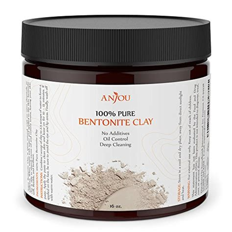 Detox Mask Powder by Anjou Bentonite Clay Mask Powder Detox 16 Oz