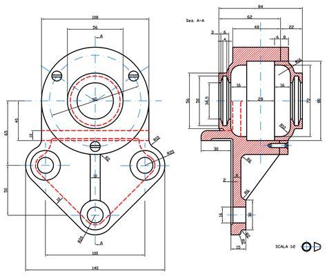 tavole disegno meccanico coperchio esempio disegno meccanico prismacad