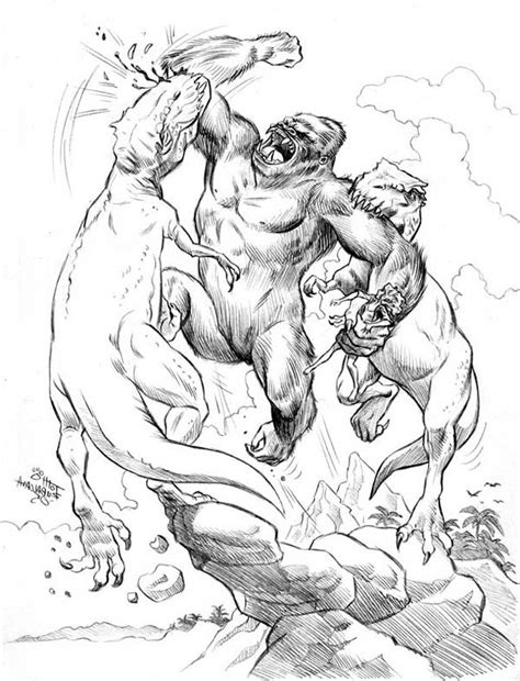 Coloring Page King Kong by King Kong Free Coloring Pages