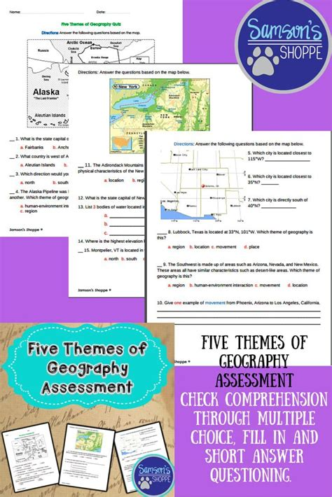 5 themes of geography michigan five themes of geography assessment