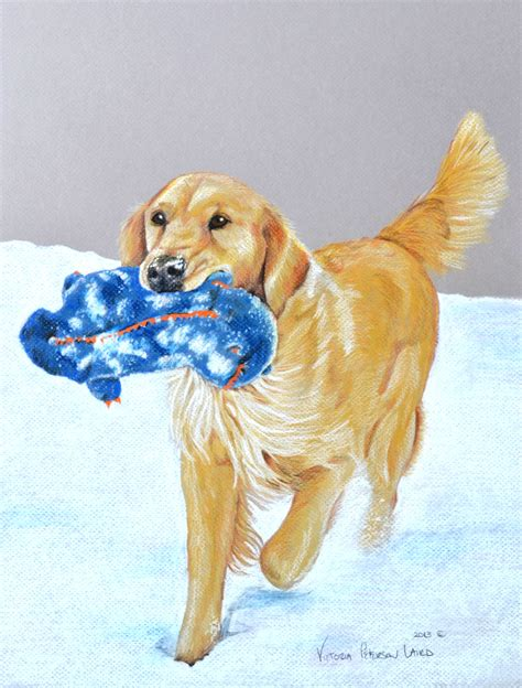 golden retriever paintings www imgkid the image kid has it