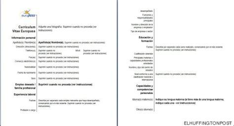 Modelo Curriculum Ue Modelo De Curriculum Vitae Union Europea Modelo De Curriculum Vitae