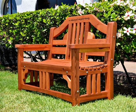 engraved benches outdoor engraved outdoor wood bench forever redwood