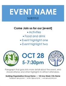 template to make a flyer event flyer template for word