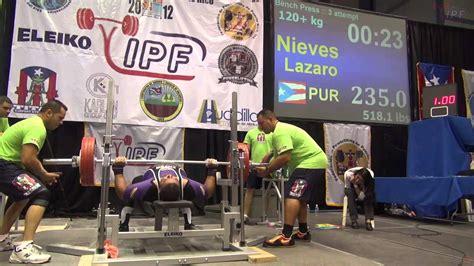 bench press 120 men 120 kg bench press of 2012 ipf world chionships youtube