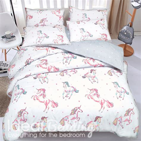 unicorn bedding unicorn print duvet set and pillowcase bedding set duvet