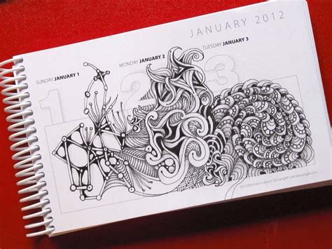 tangle starts planner tangle through the year artangleology volume 2 books open seed arts calendar diary 1