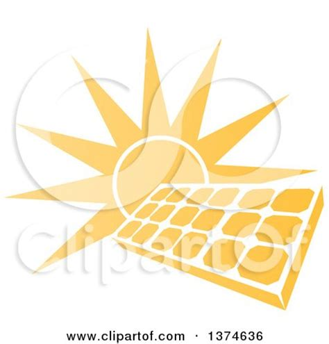royalty free solar panel clip art vector images clipart of a sun over a blue solar panel icon royalty