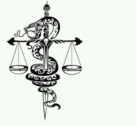 scales of justice tattoo snake justice tattoos justice