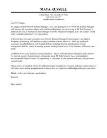 Networking Cover Letter by Network Systems Manager Cover Letter Exles It Cover