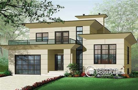 Plan Of The Week Quot Modern Space Quot Drummond House Plans Blog Small Modern Split Level House Plans