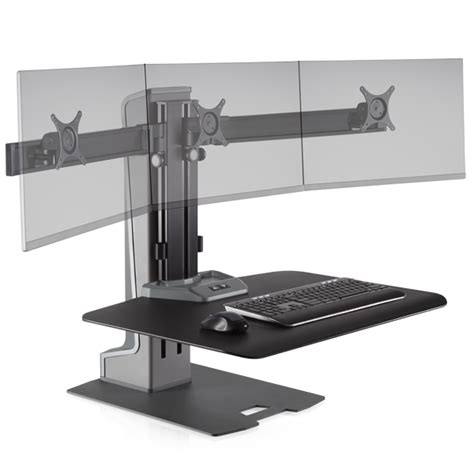 monitor height for standing desk this standing desk with electric height adjustment for