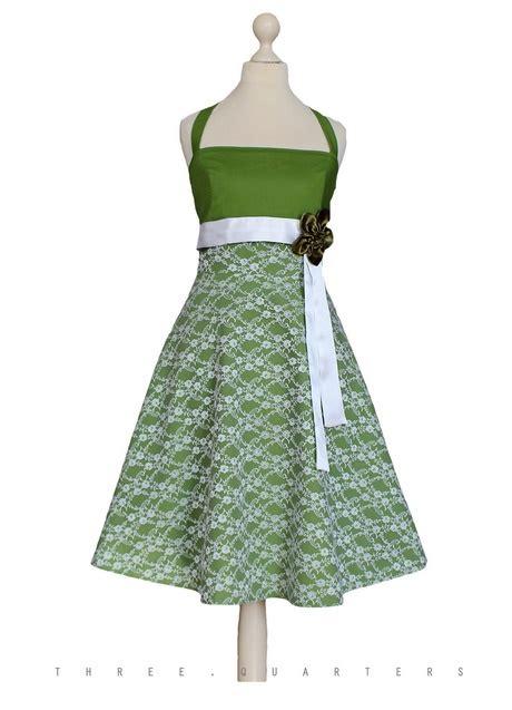kleid weiss gruen
