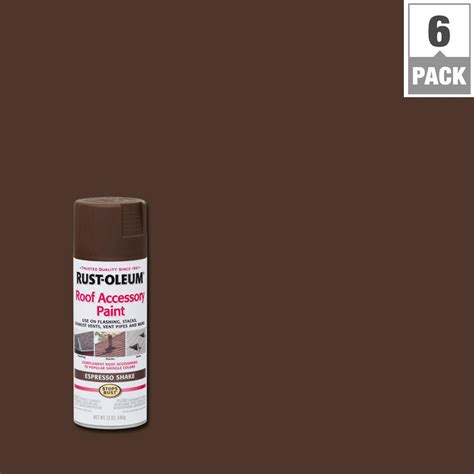 Rust Oleum Stops Rust 12 Oz Espresso Shake Roof Accessory