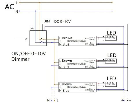 dimmable led driver wiring diagram low voltage lighting