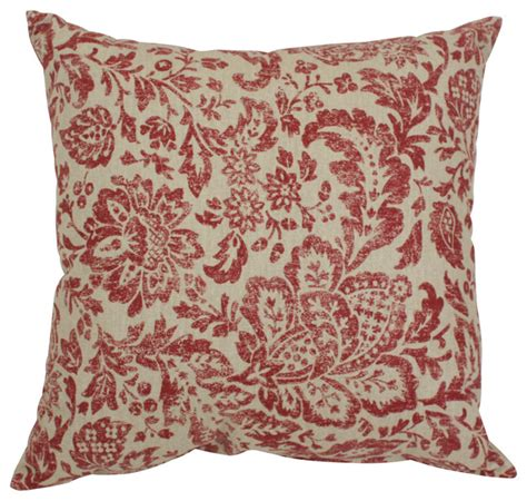 Traditional Pillows by Fairhaven Damask 16 5 Quot Throw Pillow Traditional