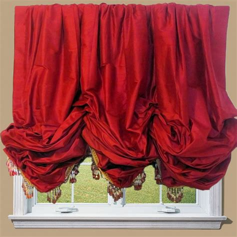 red balloon curtains balloon shades for large windows balloon valance balloon
