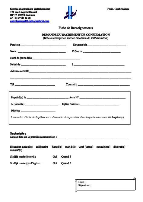 Demande De Confirmation Lettre Demande De Confirmation