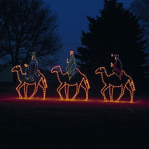 led three kings on camels led display 10