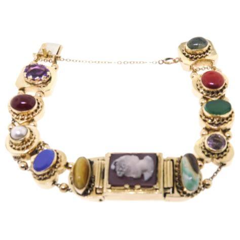 14k vintage add a link charm bracelet at 1stdibs