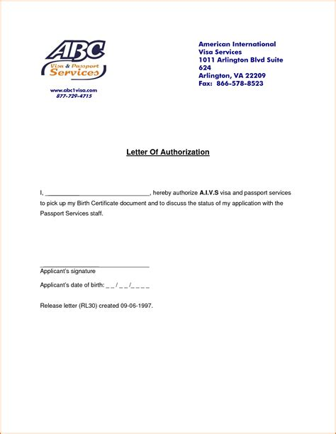Authorization Letter With Reason 9 Authorization Letters Authorizationletters Org