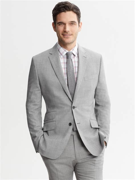 Grey Blazer | banana republic tailored grey wool two button suit blazer