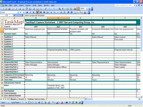 data capture card template overview of data linking gt gt taskmap capture for excel