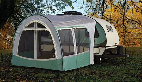 travel trailer awning screen room r pod travel trailers by forest river rv optional r dome