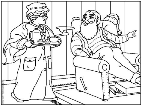 coloring pages of santa and mrs claus santa claus coloring page az coloring pages